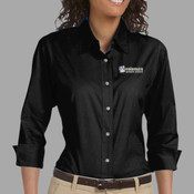 EMB - DP625W Devon & Jones Ladies' Three-Quarter Sleeve Stretch Poplin Blouse