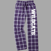 Wildcats - boxercraft F20 Team Pride Flannel Pant with Taping