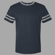 Cat-Flock - 602MR Jerzees Adult 4.5 oz. TRI-BLEND Varsity Ringer T-Shirt