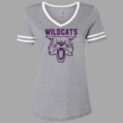 Cat-Flock - 602WVR Jerzees Ladies' 4.5 oz. TRI-BLEND Varsity V-Neck T-Shirt