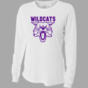 Wildcats - NW3002 A4 Ladies' Long Sleeve Cooling Performance Crew Shirt